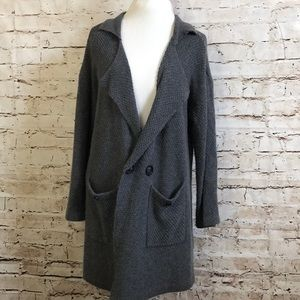 UNIF Urban Outfitters Cozy Gray Trench Cardigan